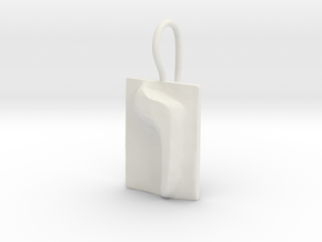 06 Vav Earring in White Natural Versatile Plastic