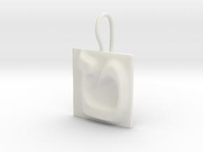 09 Tet Earring in White Natural Versatile Plastic