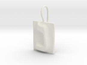 14 Nun Earring in White Natural Versatile Plastic