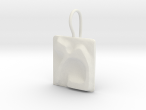 13 Mem Earring in White Natural Versatile Plastic