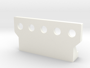 Wessex Step Double in White Processed Versatile Plastic