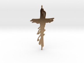 Atonement Cross small in Natural Brass