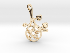 Earthly Spring Pentacle by ~M. in 14k Gold Plated Brass