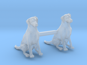 Dogs Sitting in Smoothest Fine Detail Plastic: 1:87 - HO