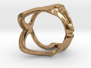 Mind generated ring - my idea of independence in Polished Brass: Small