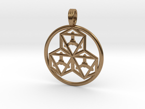 TRI-OCTAHEDRONS in Natural Brass