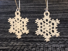 Frost Snowflake Earrings in Smooth Fine Detail Plastic