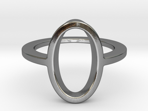 Oval Ring -size 8 in Polished Silver