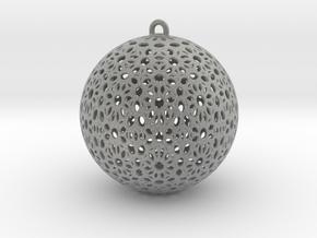 Christmas Tree Ball 58mm in Metallic Plastic