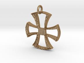 Cross Pendant in Matte Gold Steel