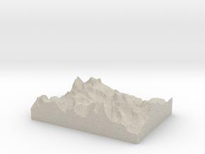 Model of Gooseneck Glacier in Sandstone