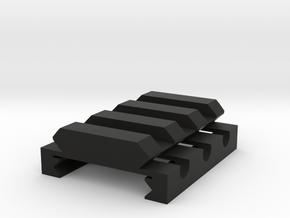 "1/4"" High 3 Slots Hybrid Picatinny/Weaver Riser in Black Strong & Flexible"