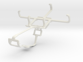 Controller mount for Xbox One & Alcatel Pixi 3 (3. in White Natural Versatile Plastic