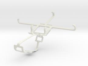 Controller mount for Xbox One & BLU Studio C 8+8 in White Natural Versatile Plastic