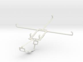 Controller mount for Xbox One & Dell Venue 8 Pro 5 in White Natural Versatile Plastic