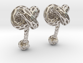 Big DRAGON, Cufflinks. Pure, Bold, Strong.  in Rhodium Plated Brass
