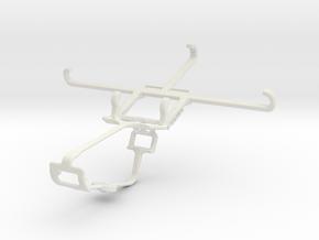 Controller mount for Xbox One & Lenovo Vibe S1 in White Natural Versatile Plastic