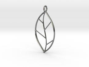 The One Leaf in Polished Silver