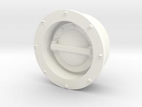 Wessex Fuel Filler in White Processed Versatile Plastic