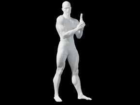 1:24 Male soldier 018 in Smooth Fine Detail Plastic