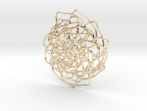 Webbing Flower Necklace in 14K Yellow Gold