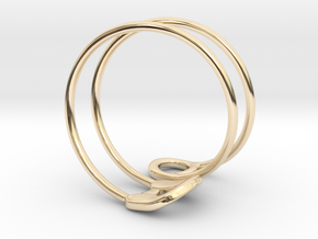 Safety Ring Version 2 in 14k Gold Plated Brass: 4 / 46.5