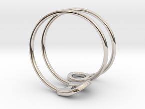 Safety Ring Version 2 in Rhodium Plated Brass: 4 / 46.5