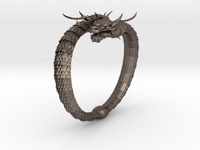 Dragon Bracelet in Polished Bronzed Silver Steel