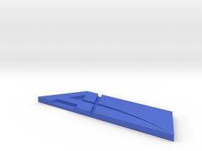 Andromeda Blue Badge in Blue Processed Versatile Plastic