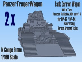 1-160 2x Pz-Tr-W+ PzKpfw 38t For BP-42 in Smooth Fine Detail Plastic