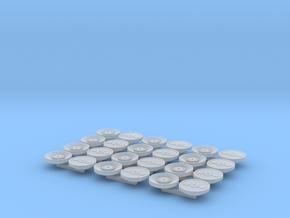 Deckel für 12 Wasserbomben 1:100  in Smooth Fine Detail Plastic