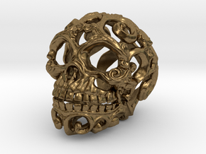 Steampunk Skull filigree in Natural Bronze: Small