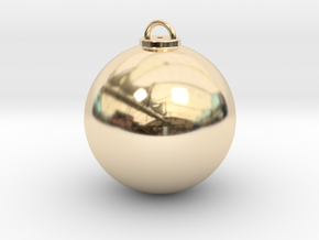 Christmas Ball Hollow - Custom in 14k Gold Plated Brass