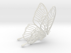 Butterfly Teabag Holder in White Strong & Flexible