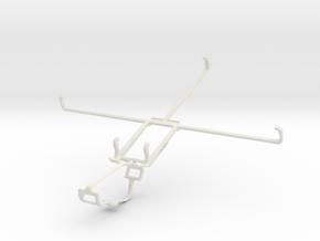 Controller mount for Xbox One & Motorola XOOM MZ60 in White Natural Versatile Plastic