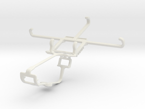 Controller mount for Xbox One & Samsung I9500 Gala in White Natural Versatile Plastic