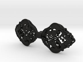 Bow tie patterns 3 in Black Natural Versatile Plastic