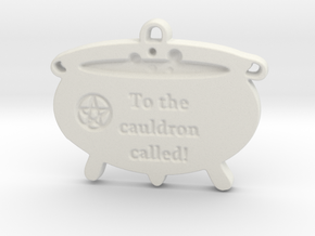 Cauldron Called by ~M. in White Natural Versatile Plastic