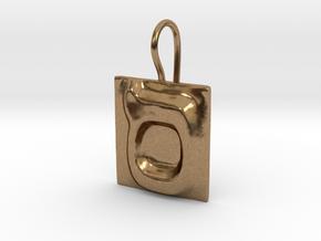 15 Samekh Earring in Natural Brass