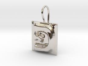 17 Pe Earring in Rhodium Plated Brass