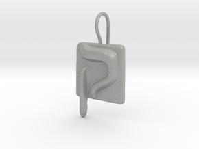 19 Qof Earring in Aluminum