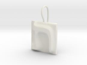 22 Tav Earring in White Natural Versatile Plastic