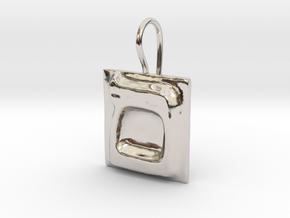 24 Mem-sofit Earring in Rhodium Plated Brass