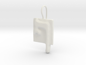 26 Pe-sofit Earring in White Natural Versatile Plastic