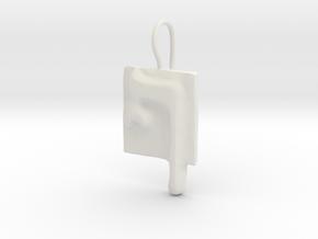 26 Pe-sofit Earring in White Natural Versatile Plastic