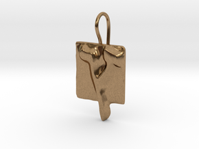 27 Tzadi-sofit Earring in Natural Brass