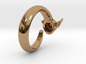 Dragon Ring in Polished Brass: 6 / 51.5