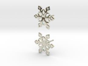Snowflake in 14k White Gold: Large