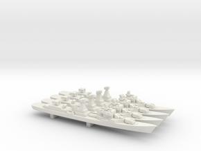 Kotlin-class destroyer (w/ SA-N-1B) x 4, 1/1800 in White Natural Versatile Plastic