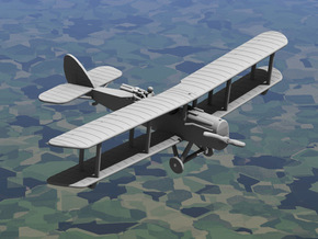 Airco D.H.4 (American) in White Strong & Flexible: 1:144